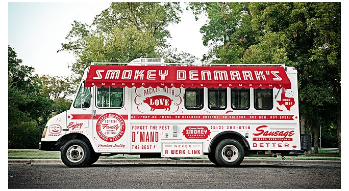 Smokey denmark truck graphics mcgarrah jessee for Food truck design software