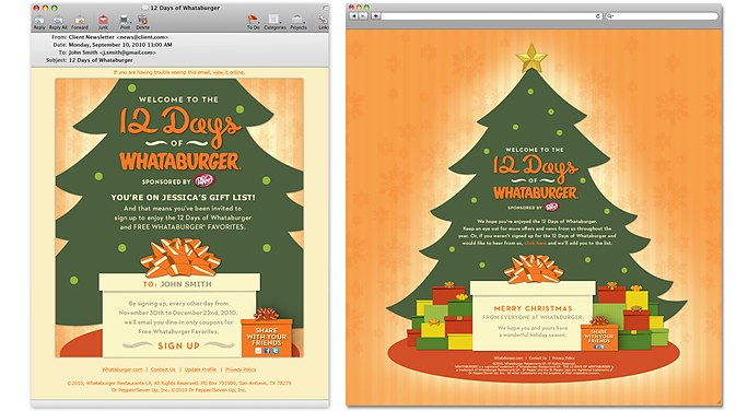whataburger 12 days of whataburger email landing page mcgarrah jessee - Is Whataburger Open On Christmas Day