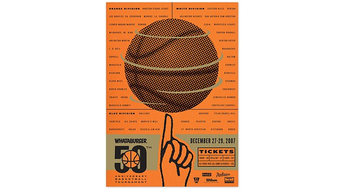 Whataburger Basketball Tournament Poster Mcgarrah Jessee