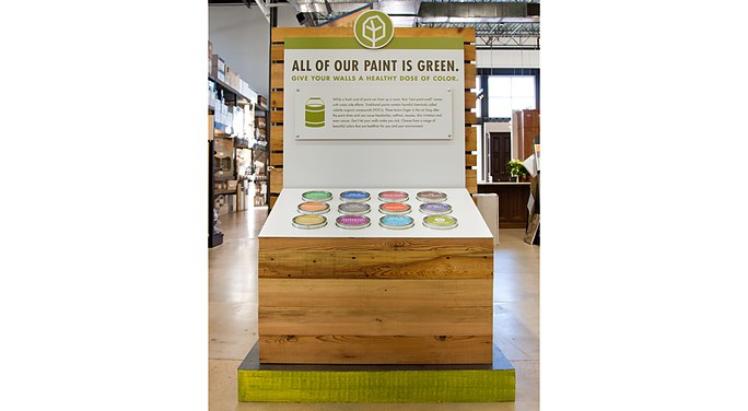Treehouse In Store Display Paint Is Green Mcgarrah Jessee